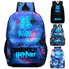 Harry Potter Galaxy Cosplay Hogwarts Luminous School Student Backpacks Book Bags