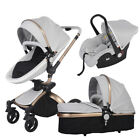 Baby Stroller 3 in 1 high view travel Bassinet proable Pushchair&car seat PUpram