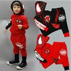 Spider-Man Cotton Kids Toddler Boys Outfits Hoodie + Pants Tracksuit Clothes Set