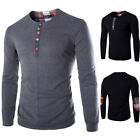Mens Wool Casual Shirts Slim Fit Crew-neck Long Sleeve Pullover Tops Tee T-shirt