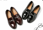 Women Fashion Vintage Brogue Round Toe Buckle Strap Block Low Heel Oxfords Shoes