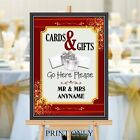 Personalised Wedding Cards & Gifts Post Box Sign Print N189 (Print Only)