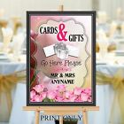 Personalised Wedding Cards & Gifts Post Box Sign Print N197 (Print Only)