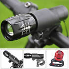 2x Cree Q5 LED Bike Bicycle Front Head Light + Aluminum Rear Torch For Outdoor