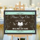Personalised Wedding Guestbook Sign Poster Banner Print N178 (Print Only)