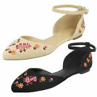 WHOLESALE Ladies Ankle Strap Ballerinas / Sizes 3-8 / 18 Pairs / F80317