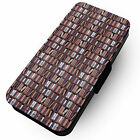 Bookcase Pattern | Faux Leather Flip Phone Cover Case #1