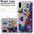Apple iPhone X 10 Bling Hybrid Liquid Glitter Rubber TPU Protective Case Cover фото