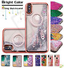Apple iPhone X 10 Bling Hybrid Liquid Glitter Rubber TPU Protective Case Cover