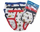 Внешний вид - 3 Boy's Briefs in a Pack Underwear Cotton Blend White W/Prints Size S M L XL 321