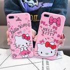 Cute Hello Kitty Flowers Soft TPU SI Rubber Case Cover for iPhone 7 6 6s plus