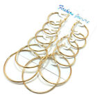 6 Pairs/Set Statement Round Large Circles Gold Hoop Earrings Jewelry for Women