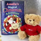 PERSONALISED Magical Christmas Adventure Book & Teddy Gift For Girl Boy Child
