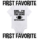 Football Daddy Baby Onesie Bodysuit Shirt Dad father Infant Shower Gift Gerber
