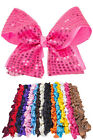 ScarvesMe 12pc Boutique Baby Girls Teens Women Sequin Sparkle 5 Hair Bows