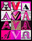 AVA Name Poster featuring photos of actual PINK sign letters