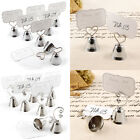 8 Wedding Place Card Working Bell Table Number Menu Card Holders Party Supplies