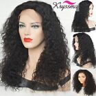 Curly Silk Base Lace Front Wigs Brazilian Remy Human Hair Wigs For Black Women