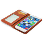 Fashion Leather Flip Book Card Wallet Cover Case Stand for iPhone 6 6s 7 Plus