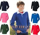 Front Row Boys Kids Childrens Long Sleeve Rugby Polo Shirt - Ages 5-13