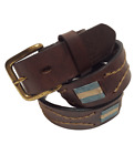 """""""Argentina"""" Polo Belt - Brown - 100% Argentine Embroidered Leather"""