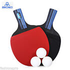 BOLI 2pcs - Set Outdoor Table Tennis Rubber Ping Pong Training Racket with Ball