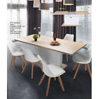 extendable dining tables - Beech Extendable Rectangular Dining Table OR 4PCS Padded Chairs- Selectable