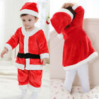 0-3 Years Kids Red Santa Claus Clothes Christmas Fancy Dress Outfit Costume Suit
