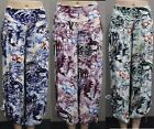 New Quelque by FILO Peacock Print Resort Pants SIZES 8 10 12 14 16 18