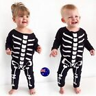 Baby Kid boy girl Halloween Skull Skeleton Party Costume Romper Bodysuit outfit