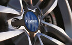 Universal Alloy Wheel Centre Cap Badges Stickers Blue Carbon Sizes 36mm to 90mm