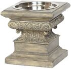 Unleashed Life Adour Collection Raised Feeder In Aged Stone Finish, Medium