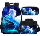 Purity Grace Unicorn Backpack Kids Insulated Lunch Bag Pen Pencil Case Wholesale