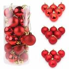 30/40/60/80mm Christmas Xmas Tree Ball Bauble Hanging Party Ornament Decorations