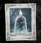 """Beauty And The Beast"" Glitter picture, Shabby Chic Framed or Canvas! Any Size"