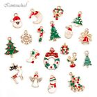 19pcs Metal Alloy Mixed Christmas Charms DIY Pendants Ornament Home Party Decor