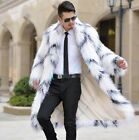 Trench Mens Hoodies Full Long Jacket Outwear Parkas warm Fur Trench Coats Winter