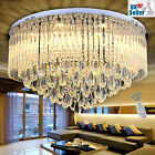 Geniune K9 Crystal LED Round Flush Ceiling Chandelier 3 Light Colour+Remote Ctrl