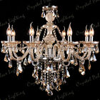 Genuine K9 Crystal Chandelier CHAMPAGNE 2, 6, 8,10,12,15, 18, 24, 30, 32 Arms