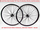 "NEW B GRADE 26"" MTB WHEELS SET ,FRONT + REAR MARKED / SCRATCHED BUT UNUSED NEW !"