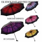 Vincenza Windproof Waterproof Compact Folding Floral Flowers Umbrella Parasol