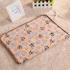 Warm Pet Mat Small Large Paw Print Cat Dog Puppy Fleece Soft Pet Bed Cushion Pad
