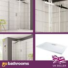 Noble Luxury Shower Enclosure Frameless Sliding Door 8mm Glass Bathroom