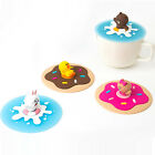 Naver Line Friends Silicone Cup Cover 1EA Mug Glass Lid Brown Cony Sally Choco