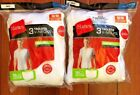 6 pack hanes mens v neck white t shirt sizes S - 3XL choose