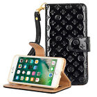 Luxury Fashion Deluxe Flower Wrist Flip Wallet Leather Case for iphone5 5s  6 6s