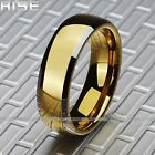 New Gift Men Women Tungsten Yellow-golden plated Ring fashion wedding band A27