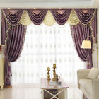 8 Feet purple Chenille Waterfall and Swag living room Curtain Valance customize