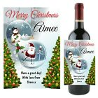 Personalised Christmas Wine Champagne Bottle Label Xmas Stocking Gift N121