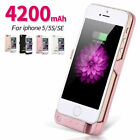 4200mah Power Bank External Battery Backup Charger Case Cover For Iphone 5 5s Se